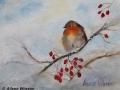"""""""Robin in Winter"""" by Aileen Wheeler"""